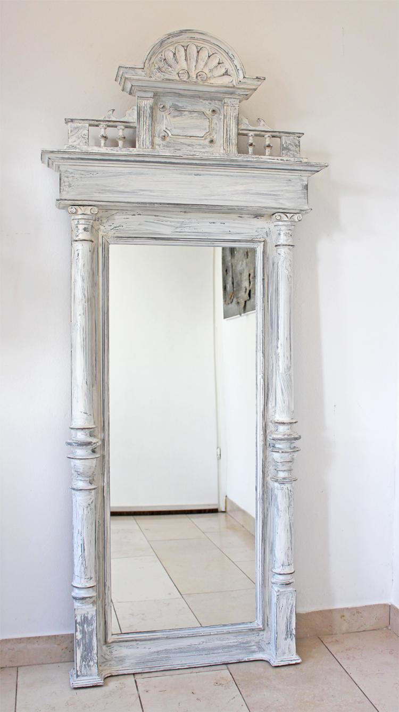 antiker spiegel gr nderzeit wei. Black Bedroom Furniture Sets. Home Design Ideas
