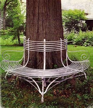 gartenbank baumbank. Black Bedroom Furniture Sets. Home Design Ideas