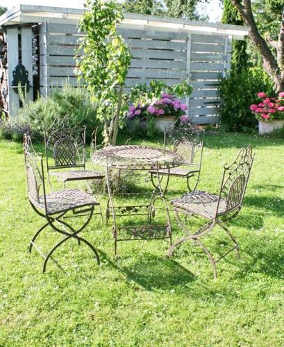 garten sitzgruppe eisen antik braun. Black Bedroom Furniture Sets. Home Design Ideas