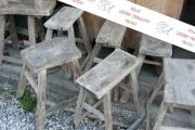 Konvolut antiker Holzhocker