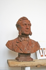 Skulptur, Herrenbüste, Eisenguss, * € 460,- *
