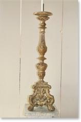 Antiker Altarleuchter, Frankreich, versilbert