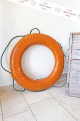 Alter Rettungsring, orange
