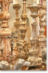 Antike Altarleuchter, Kirchenleuchter, Kerzenleuchter