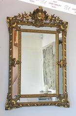 Antiker prachtvoller Prunkspiegel, Frankreich, Elsass