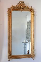 Antiker Pfeilerspiegel,Historismus, vergoldet