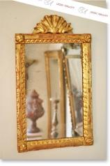 Antiker Spiegel, Zopfstil, vergoldet