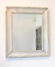 Antiker Spiegel, weiss gefasst