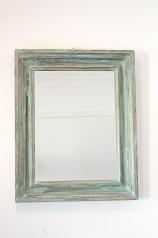 Antiker Spiegel, farbig gefasst