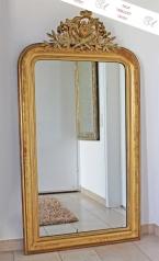 Antiker, großer französischer Spiegel, Louis Philippe