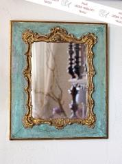 Antiker gefasster Spiegel, Louis Quinze Stil, Frankreich