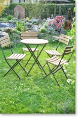 Biergartengarnitur, Tisch inkl. 4 Stühle