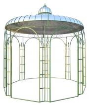Ein großer Gartenpavillon mit Kuppel