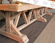 Ein großer Landhaustisch, altes Tannen Holz