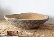 Eine alte Holz Schale