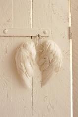 Engelflügel, echte Federn