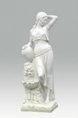 Garten Brunnen, Frau mit Krug, Marmor