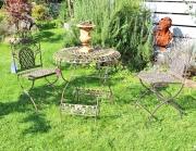 Garten Sitzgruppe, Eisen, antik braun