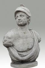 Garten Skulptur, Männerbüste