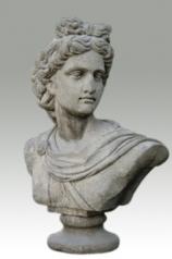 Garten Skulptur, Büste eines Mannes