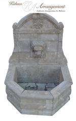 Gartenbrunnen, Löwenkopf, Blaustein