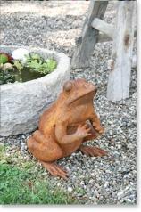 Gartenskulptur, Großer Frosch