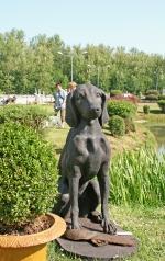 Gartenskulptur, Jagdhund, Eisen
