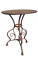 Gartentisch, Eisen, dm 60cm