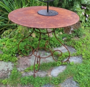Gartentisch, rund,  Eisen