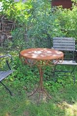 Gartentisch, rund,  Eisen, dm 63cm