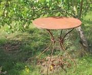 Gartentisch, rund,  Eisen, 60cm