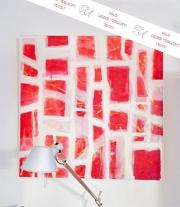 "Gemälde, ""Gitternetz"", Acryl auf Leinwand"