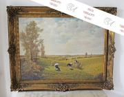 Gemälde, Öl auf Leinwand, Bernhard Büter