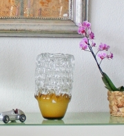 Glasvase, Braun- und Weissglas, * € 480,- *