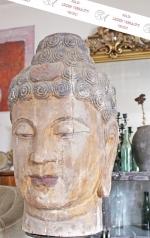 Großer Buddha Kopf, Holz