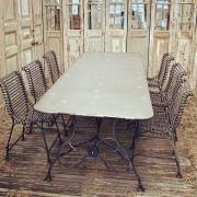 Großer Landhaus Tisch, Eisen geschmiedet