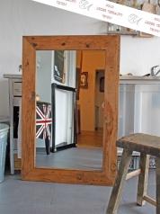 Großer, rustikaler Spiegel, Altholz