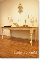 Landhaustisch, Weichholz, antik weiss