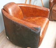 Sessel, Vintage Style, Kuhfell