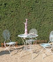 Sitzgruppe, Eisen, Antik blau