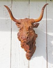 Skulptur, Stierkopf, Eisenguss, * € 150,- *