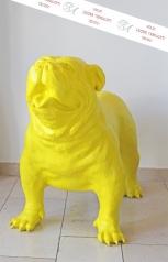 Skulptur, große Bulldogge
