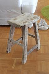 Alte, antike Holz - Hocker