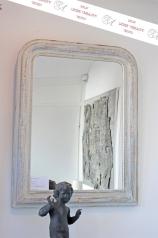 Antiker Spiegel, Louis Philippe, weiß